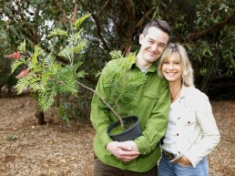 With Olivia Newton-John - his co-founder of National Tree Day
