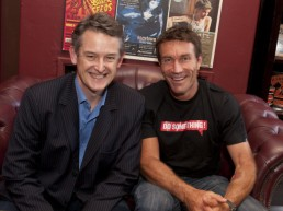 With Pat Cash - his co-Founder at Planet Ark and DoSomething