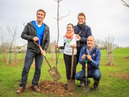 Tree planting in Bristol with Pat, Kevin and Estelle